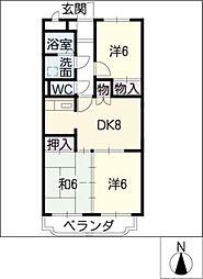 ア・ドリームふじ[1階]の間取り