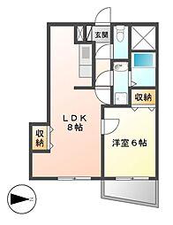 第3タジックビル[11階]の間取り