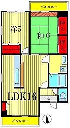 フレール堀切1[2階]の間取り