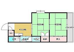 ブリッジハウス[4階]の間取り