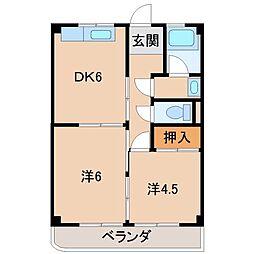 シャトー坂本[3階]の間取り