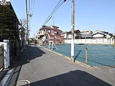 接道状況および現場風景 世田谷区桜上水5丁目
