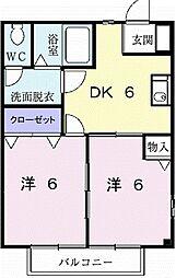 みずきハウス[1階]の間取り
