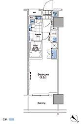 パークハビオ赤坂タワー[16階]の間取り