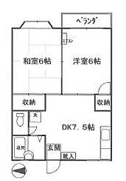 ふじハイツD棟[2階]の間取り