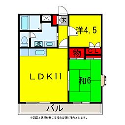 第2オークマンション[3階]の間取り