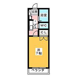 プレイス神田[1階]の間取り