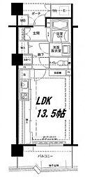 ロイヤルパークス桃坂[9階]の間取り