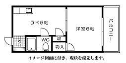 広島県広島市西区三滝本町2丁目の賃貸マンションの間取り