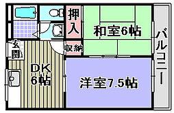 メゾンドールユキ[303号室]の間取り