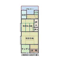 神戸市長田区長者町住宅[202号室]の間取り