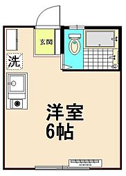 コ−ポ・ミヤザキ[1階]の間取り