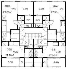 CASA N7(カーサ)[3階]の間取り