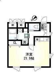 hisui apartment 2階ワンルームの間取り