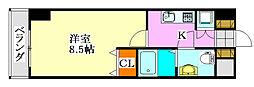 グランフォース習志野[3階]の間取り