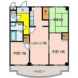 ココ川崎[2階]の間取り