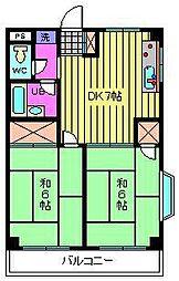 錦生コーポ[201号室]の間取り