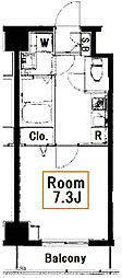 ライジングプレイス両国三番館[2階]の間取り