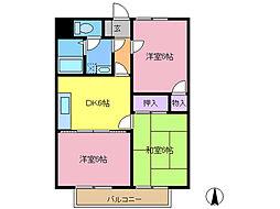 第2グレースマンション[102号室]の間取り