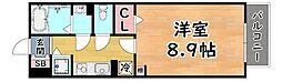 阪急神戸本線 王子公園駅 徒歩17分の賃貸アパート 2階1Kの間取り