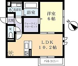 つくばエクスプレス つくば駅 バス17分 さくらの森下車 徒歩5分の賃貸アパート 2階1LDKの間取り