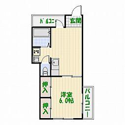 お花茶屋マンション[4階]の間取り