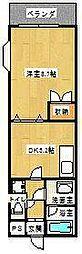 カスティールイン宇都宮[2階]の間取り