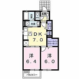 山口県下関市東勝谷の賃貸アパートの間取り