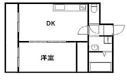 コーポラス安原[3階]の間取り