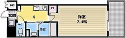 大阪府東大阪市足代1丁目の賃貸マンションの間取り