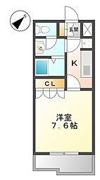埼玉県幸手市大字上高野の賃貸アパートの間取り