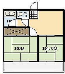 メゾンドアール[101号室]の間取り