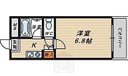 大阪府大阪市鶴見区横堤3の賃貸マンションの間取り