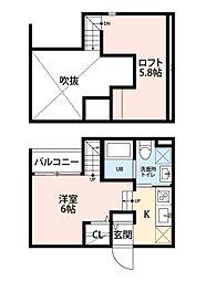 プランドール賀茂[2階]の間取り