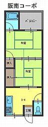 阪南コーポ[1階]の間取り
