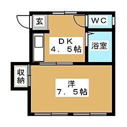 高木ビル[2階]の間取り