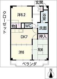 キングハイツ東郷[3階]の間取り