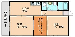 ケイワイコーポ[2階]の間取り
