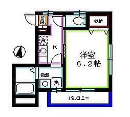 埼玉県新座市栗原5丁目の賃貸アパートの間取り