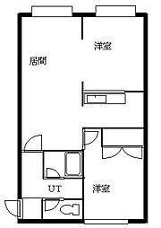 北海道札幌市南区澄川一条1丁目の賃貸アパートの間取り