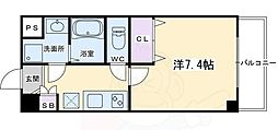 ベラジオ京都西大路ウエスト 1階1Kの間取り