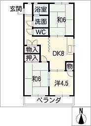 ハイツ稲沢H棟[4階]の間取り