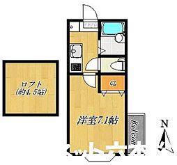 福岡県福岡市城南区別府5丁目の賃貸アパートの間取り