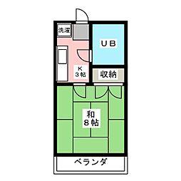 グリーンベルI[2階]の間取り