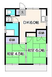 小坂荘[2階]の間取り
