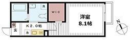 千葉県松戸市新松戸1丁目の賃貸アパートの間取り