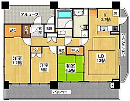 ファインフラッツ武庫之荘[3階]の間取り