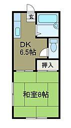 ヨシノM[1階]の間取り