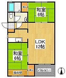 合川ビレッジ[2階]の間取り