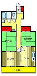 マンション青木[4階]の間取り